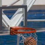 basketball in the basket